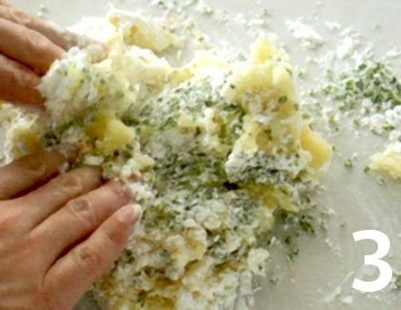 Preparacion de Receta de Cocina: Tortitas de Papa - Paso 3