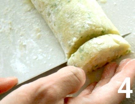 Preparacion de Receta de Cocina: Tortitas de Papa - Paso 4