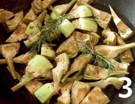 Preparacion de Receta de Cocina: Risotto de Tomate y Alcachofas - Paso 3