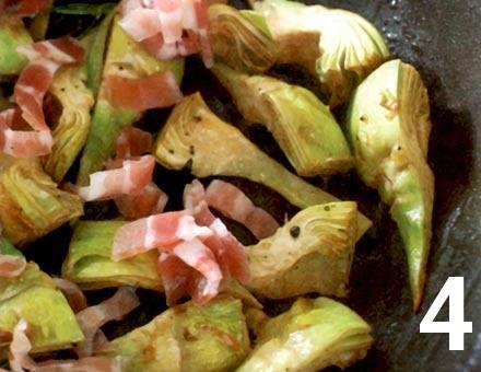 Preparacion de Receta de Cocina: Risotto de Tomate y Alcachofas - Paso 4
