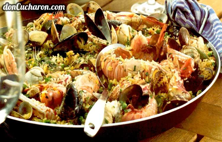Receta de Cocina paso a paso: Paella de Marisco