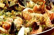 Preparación de Paella de Marisco