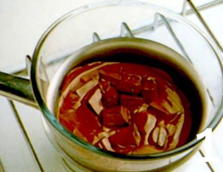Preparacion de Receta de Cocina: Copas de Chocolate al Ron - Paso 1