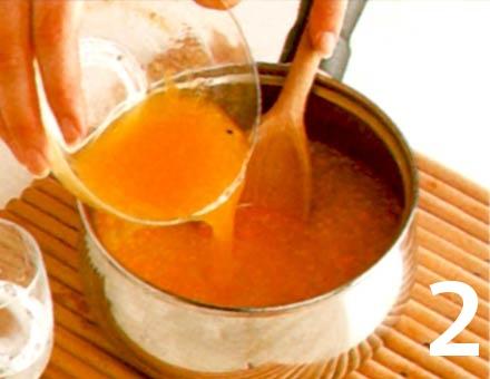 Preparacion de Receta de Cocina: Sorbete de Naranja al Chocolate - Paso 2