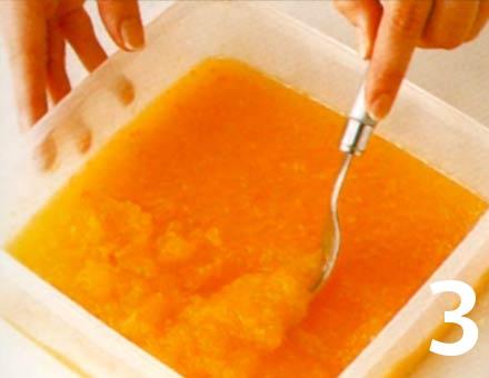 Preparacion de Receta de Cocina: Sorbete de Naranja al Chocolate - Paso 3