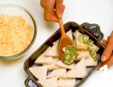 Preparacion de Receta de Cocina: Soufflé de Pan y Mantequilla - Paso 1