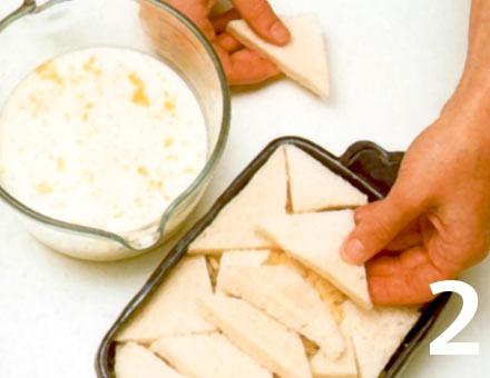 Preparacion de Receta de Cocina: Soufflé de Pan y Mantequilla - Paso 2