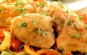 Preparación de Pepperonata de Pollo