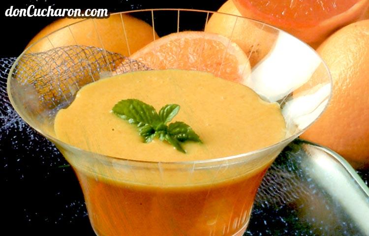 Receta de Cocina paso a paso: Gelatina de Naranja