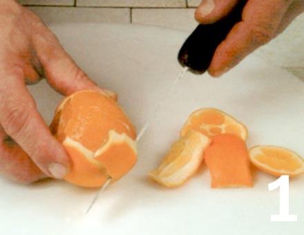 Preparacion de Receta de Cocina: Gelatina de Naranja - Paso 1