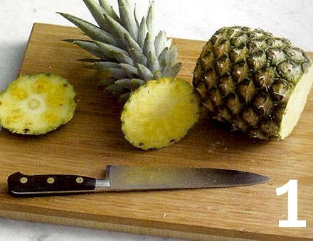 Preparacion de Receta de Cocina: Piña Gratinada - Paso 1