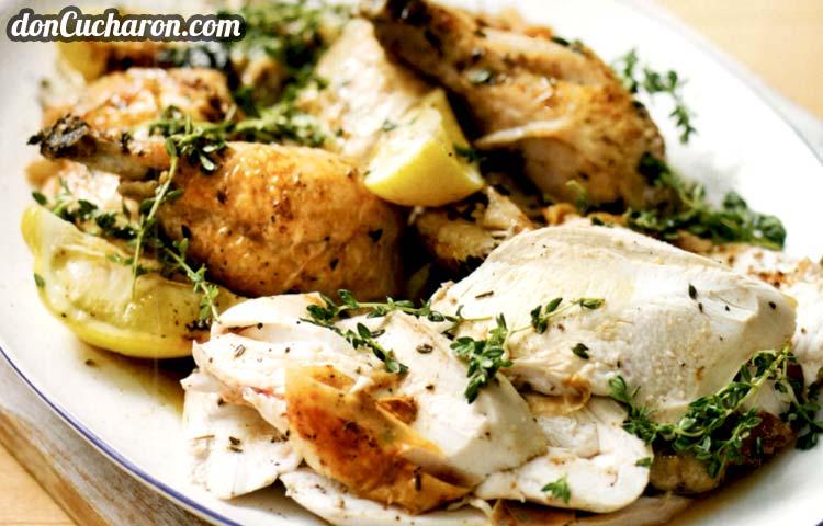 Receta de Cocina paso a paso: Pollo Asado