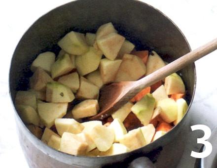 Preparacion de Receta de Cocina: Crema de Boniato y Manzana - Paso 3