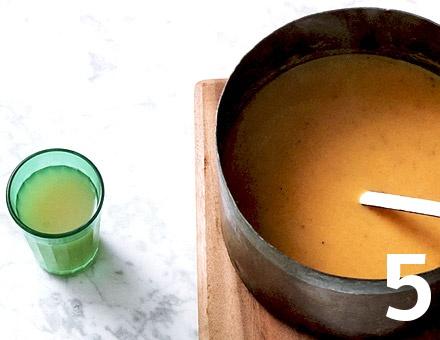 Preparacion de Receta de Cocina: Crema de Boniato y Manzana - Paso 5