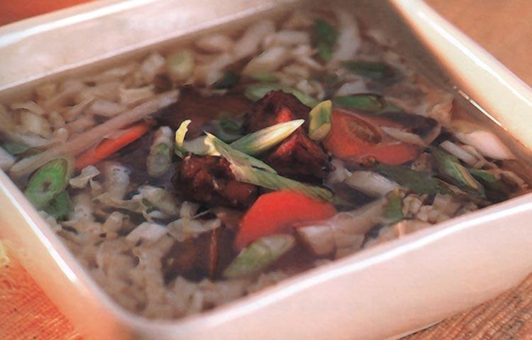 Receta de Cocina paso a paso: Sopa China de Verduras