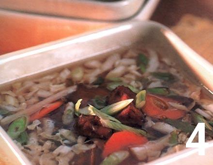 Preparacion de Sopa China de Verduras - Paso 4