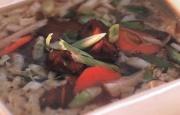 Preparación de Sopa China de Verduras
