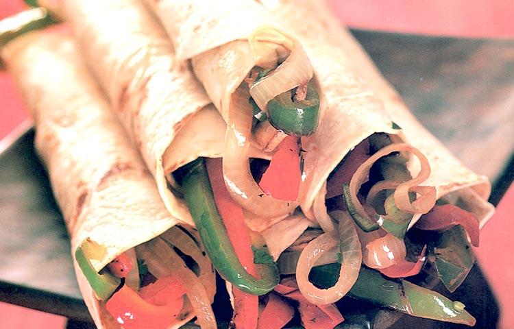 Receta de Cocina paso a paso: Fajitas de Verduras