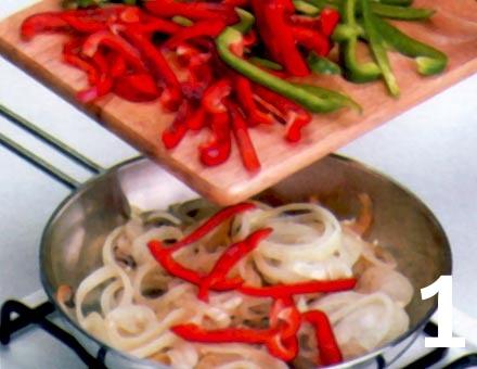 Preparacion de Fajitas de Verduras - Paso 1