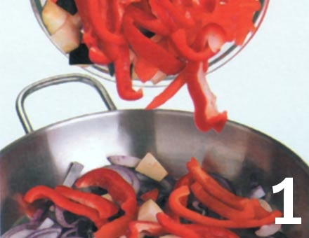 Preparacion de Paella de Verduras - Paso 1