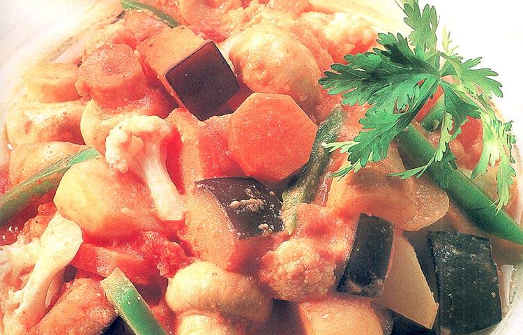 Receta de Cocina paso a paso: Hortalizas al Curry