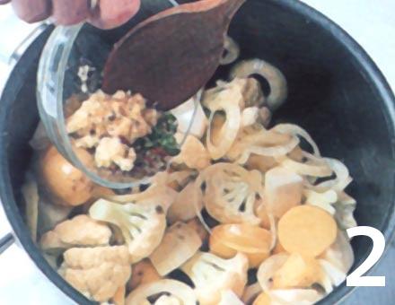 Preparacion de Hortalizas al Curry - Paso 2