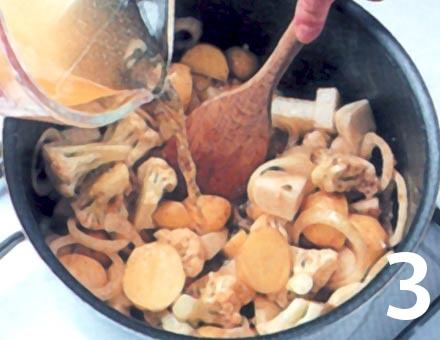 Preparacion de Hortalizas al Curry - Paso 3