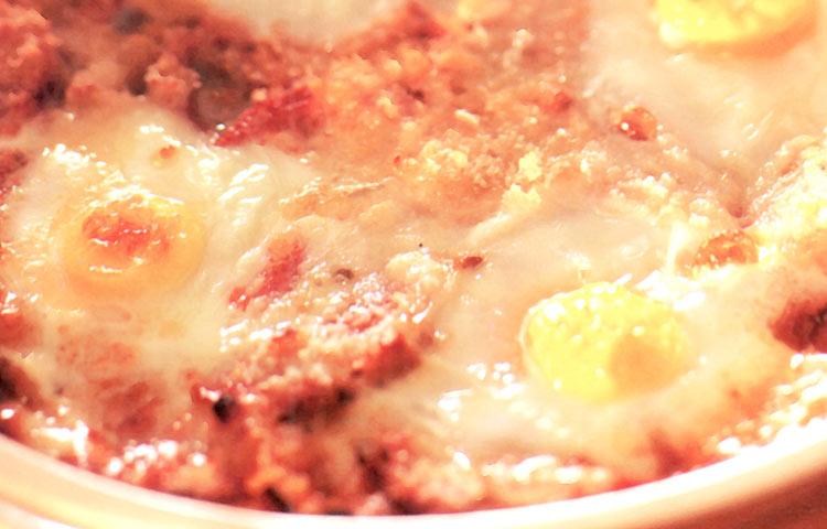 Receta de Cocina paso a paso: Tomate y Cebolla al Horno con Huevos