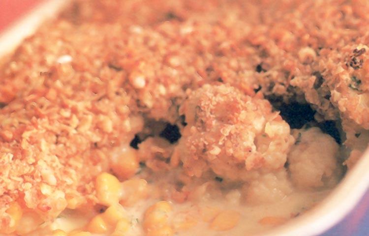 Receta de Cocina paso a paso: Crumble de Coliflor