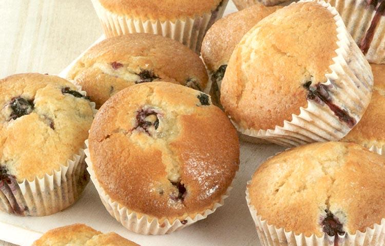Receta de Cocina paso a paso: Muffins de arándano y limón