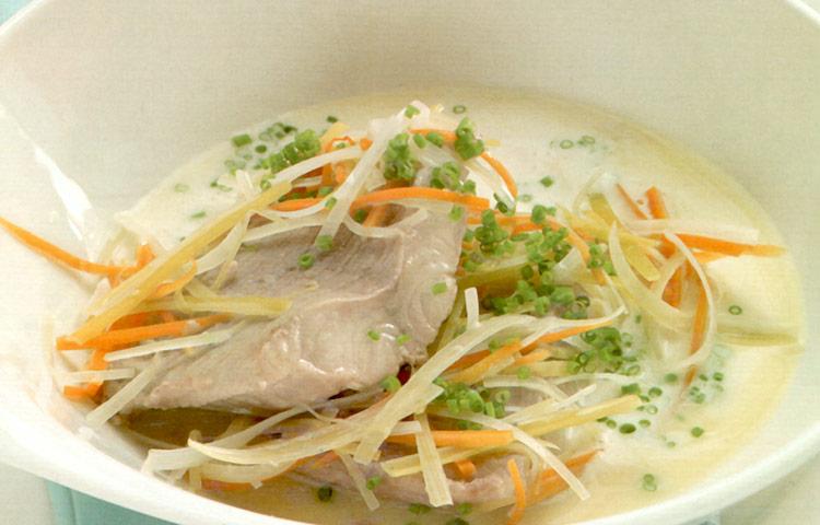 Receta de Cocina paso a paso: Bacalao en Caldo de Verduras