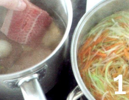 Preparacion de Bacalao en Caldo de Verduras - Paso 1