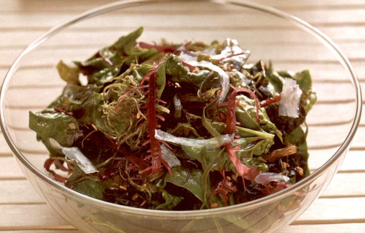 Receta de Cocina paso a paso: Ensalada de Algas con Espinaca