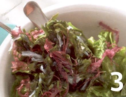 Preparacion de Ensalada de Algas con Espinaca - Paso 3