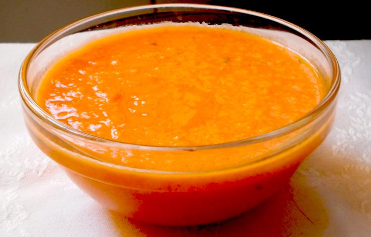 Receta de Cocina paso a paso: Salsa de Pimientos