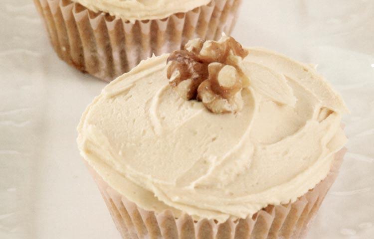 Receta de Cocina paso a paso: Cupcakes de Café y Nueces